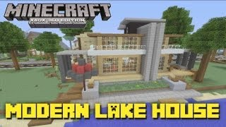 Minecraft Xbox 360: Modern Lake House! (House Tours of Danville Episode 25)