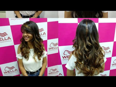 Hair color - Wella balayage color for the heena hair