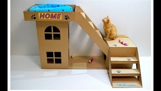 Video How to make a house for a cat out of cardboard MP3, 3GP, MP4, WEBM, AVI, FLV Januari 2018