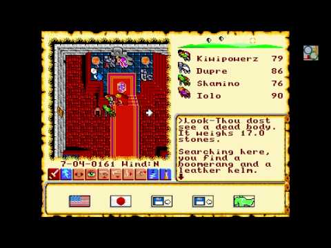 Ultima 6 FM Towns HD 60fps gameplay full voice #1