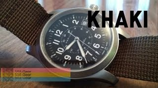 Review: Hamilton Khaki Field Mechanical Wristwatch - YouTube