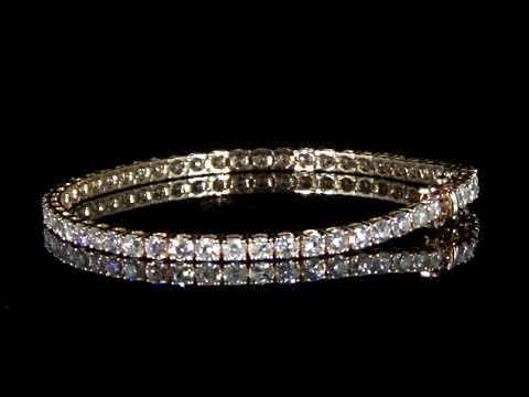 女裝14K玫瑰金5.55克拉(總重)鑽石手鍊