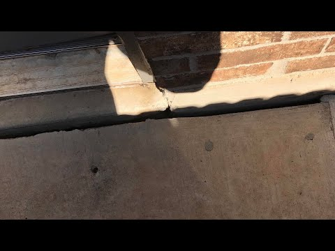 Seal Gap In Foundation and Concrete Patio or Sidewalk
