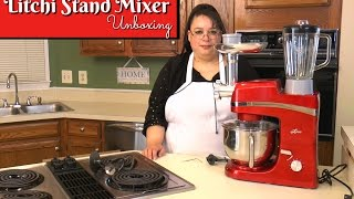 "Join Amy for an unboxing of the Litchi 5.5 Quart Stand Mixer. This stand mixer includes the whip, paddle, scraper paddle, and dough hook attachments. The multifunction model includes a meat grinder, sausage stuffer, pasta extruder, and a blender. This mixer is 650 watts . This mixer is creating for making whipped cream, cookies, and basic bread dough.Amy Learns to Cook is all about learning to make simple, tasty food from fresh ingredients. One year ago, I made a commitment to stop eating processed convenience foods. I decided to learn to cook ""real"" food. Join me! Let's learn to cook together! Enjoy! Please share!Litchi 5.5 Quart Stand Mixer:http://amzn.to/2oqWVgFLitchi Stand Mixer Multifunction 5.5 Quart Mixer with the Blender and Meat Grinder:http://amzn.to/2n2BYJ7Please SUBSCRIBE to my channel, LIKE, and leave a COMMENT.Please visit my website: www.amylearnstocook.comAny links in this description, including Amazon, are affiliate links.I received this product free of charge in exchange for my honest review."