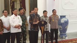 Video Pernyataan Lengkap Jokowi Tanggapi Kerusuhan Pasca Pilpres MP3, 3GP, MP4, WEBM, AVI, FLV Mei 2019