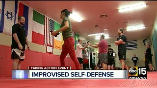 Geoff Pennington, the owner of Total Submission Fighting and Self Defense, teaches Krav Maga, a method to protect yourself using your first line of defense, which is your body.