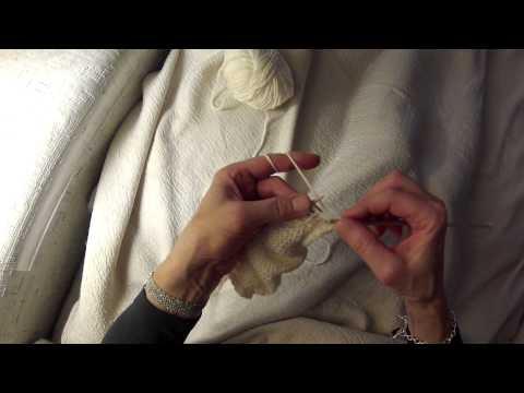 Maschen zunehmen aus dem Querfaden – Stricken lernen mit stricken-online.com