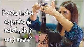 Fica a Dica: É preciso cortar as pontas dos cabelos de 3 em 3 meses