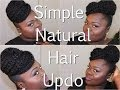 {Natural Hair} Simple Updo using Marley Hair Tutorial