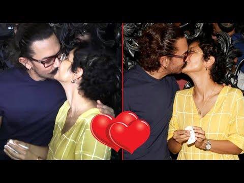 Aamir Khan Kissing Kiran Rao in Public On BIRTHDAY