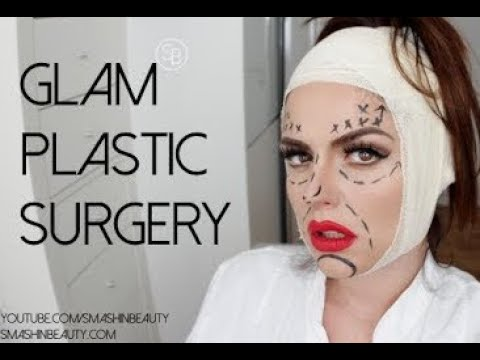 Glam Plastic Surgery Halloween Makeup Tutorial 2014