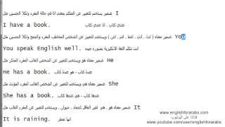 تعلم قواعد اللغة الانجليزية الدرس 20 الضمائر الانجليزية الجزء 1