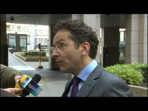 Arrival and doorstep by Eurogroup President Dijsselbloem (9 December 2013)