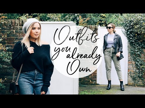 OUTFITS YOU PROBABLY ALREADY OWN | RESTYLING LAST SEASON | Hello October (видео)