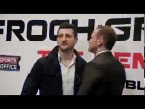 Carl - CARL FROCH VGEORGE GROVES 2 - THE REMATCH - HEAD TO HEAD @ FIRST PRESS CONFERENCE.