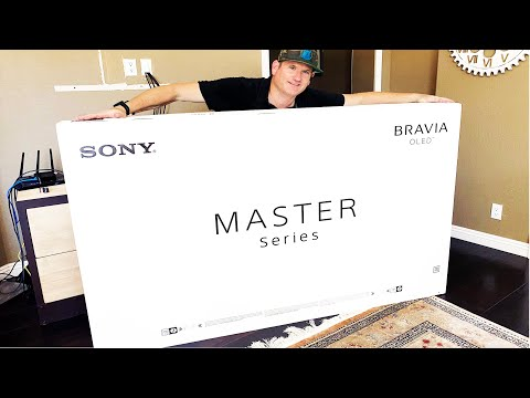 """Sony 77"""" A9G OLED Installation and unboxing"""
