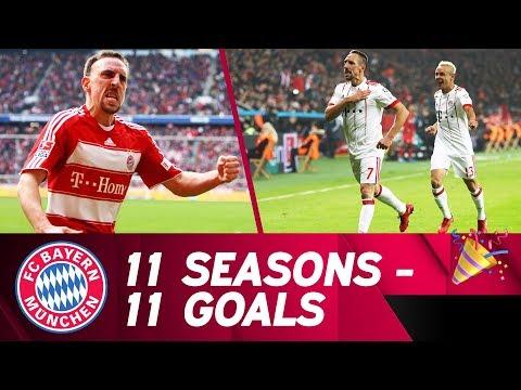 11 Seasons, 11 Goals - Franck Ribéry's Best FC Bayern Goals 🔴⚪ (видео)