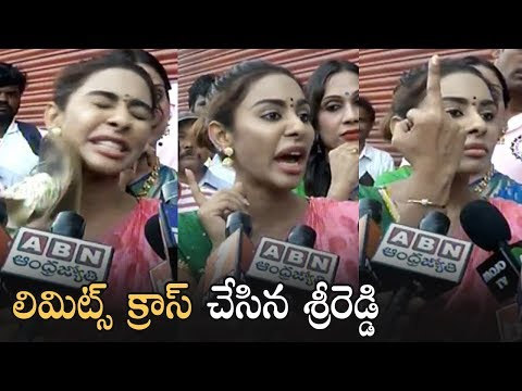 Actress Sri Reddy Reacts On Pawan Kalyan Comment   Sri Reddy Crossed Her Limits