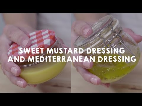 How to cook with Olive Oil | Sweet Mustard Dressing and Mediterranean Dressing