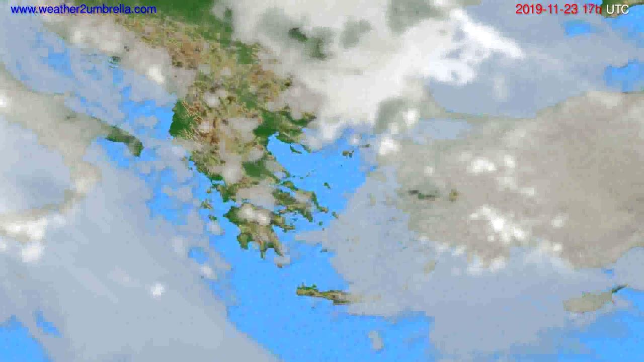 Cloud forecast Greece // modelrun: 12h UTC 2019-11-22
