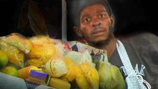 Man sells fruits from a cart in Georgetown, Guyana. THANKS FOR WATCHING!