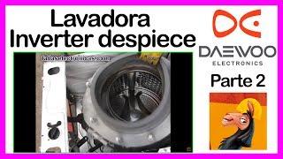 1. 🤔 Lavadora Daewoo®� Inverter despiece | cambio de rodajes ⚙� rulimanes parte 2