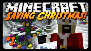 Minecraft: SAVING SANTA, TRAYAURUS&CHRISTMAS! (Science Santa Adventure Map #1)