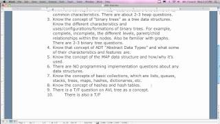 Fall 2011 Data Structures Final Exam Review