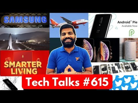 Tech Talks #615 - OnePlus 6 Android Pie, Dual Screen Phone, Samsung S10 3 Models, SpaceX Mars Base