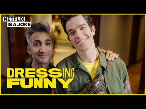 Tan France Gives John Mulaney a Hypebeast Makeover | Dressing Funny | Netflix Is A Joke