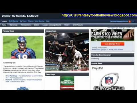 CBS Fantasy Football Commissioner League Review