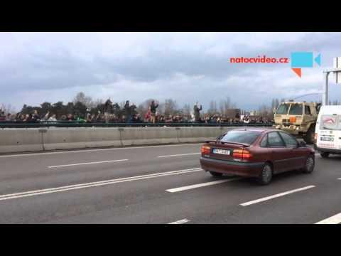 US military convoy parades through Czech