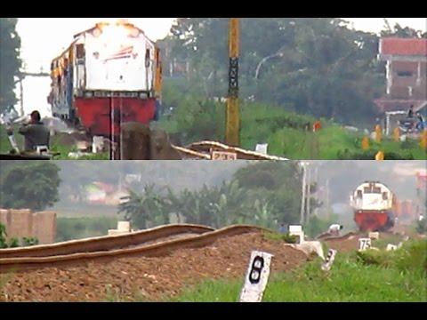 KA Lokal Bandung Raya Menerjang Rel Bergelombang dari Kiri dan Kanan