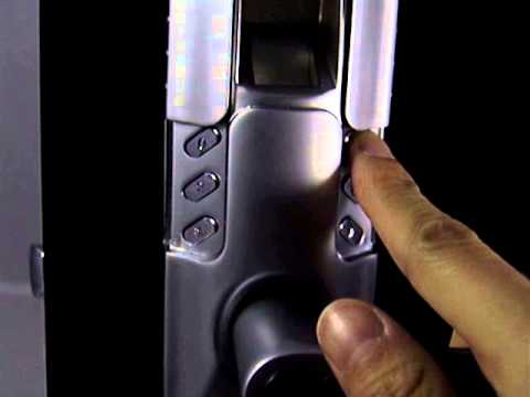 how to operate 6600 98 fingerprint door lock