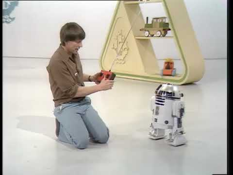 BBC Blue Peter item on super Artoo model from 1978. STAR WARS