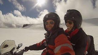 Snowmobiling the Vatnajokull Glacier