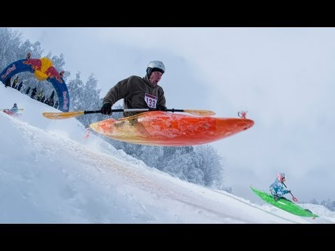 Snow Kayak Race in Estonia – Red Bull Snow Kayak 2013