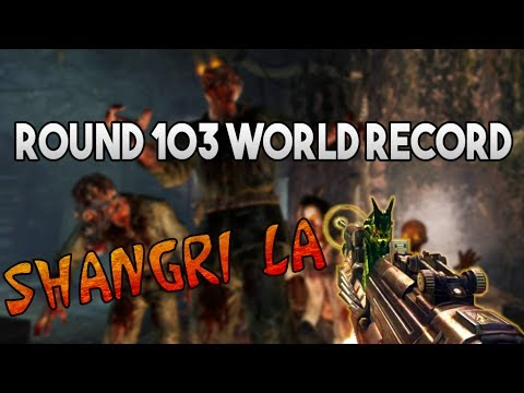 Twitch - Shangri-La Remastered Round 103 WORLD RECORD - Rank 1 - Zombies Chronicles Black Ops III Round 100 +