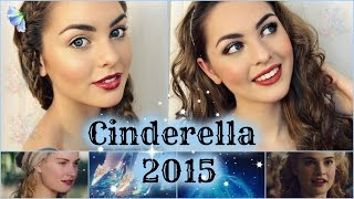 Lily James As Cinderella Makeup Tutorial! Natural&Glam Looks - Jackie Wyers