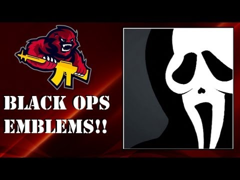 COD Black Ops - Scream Mask Emblem Tutorial