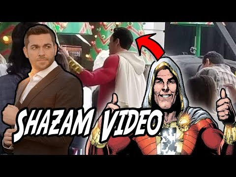 Shazam on set shows the hero in action!!!