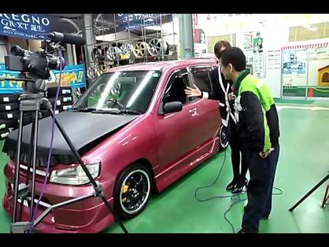 タイヤ館高島平にてTV 番組Car-xs 撮影!日産キューブ!パート2! (видео)