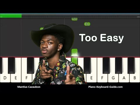 How to Play Old Town Road by Lil Nas X - Slow Very Easy Piano Tutorial