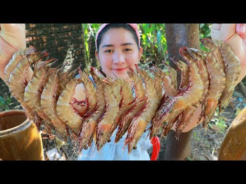 Yummy Tiger Shrimp Sweet Salty Cooking - Tiger Shrimp Recipe - Cooking With Sros