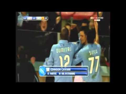 I 25 gol di Cavani con il Napoli //HD// Commento Auriemma Alvino Sky