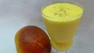 Mango Lassi - Mango Flavored Yogurt Drink Indian Recipe
