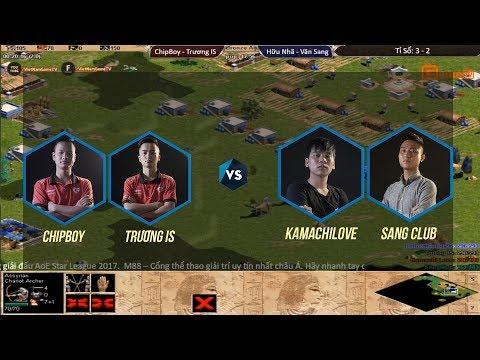 AOE STAR LEAGUE 2017 Vòng 1 Trương Chipboy vs Hữu Nhã Văn Sang Ngày 19 11 2017.BLV:G_Kami
