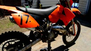 2. 05 KTM 125 sx (new bike reveal)