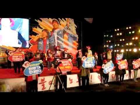 [영상] 2011년 전국노동자대회 전야제_보건의료노조 러브플러스 율동단의 'Up Down Song' 율동입니다. ^^;;