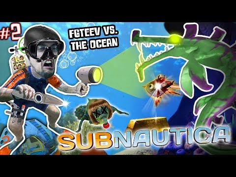 ALIEN SHARKS FOUND vs. MY SHARPY!! 🎵 FGTEEV Gets the Stank Walrus (Subnautica Survival #2) (видео)